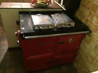 Rayburn red oven boiler gas working order range