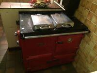 Rayburn red oven boiler gas working order range