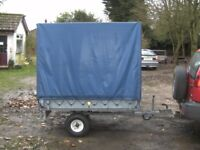VERY RARE FULLY GALVANISED 6X4X5 COVERED FLATBED TRAILER...........