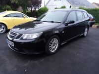 08 Plate Saab 9-3 Diesel Automatic Estate. Long MOT, Excellent condition just £1295 ono, PX Welcome.