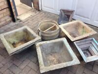 Fibre glass concrete moulds selection of shapes and sizes £50 the lot