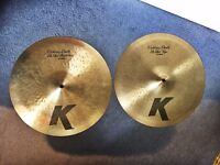 "Zildjian K Custom 14"" Hi Hats (Hi Hat Cymbals) Top & Bottom"