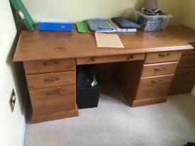 Desk and filing unit.