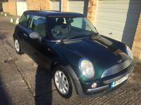 MINI ONE 1.6, FSH, GREEN, VGC, 2003.