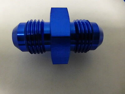 Russell 660350 Male Union Adapter Male Flare Fitting AN6 -6 # 6 6AN Blue