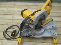 Dewalt DW707-LX Sliding Mitre Saw 110V Excellent Condition