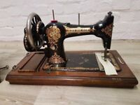 Vintage Hand Crank Sewing Machine (DELIVERY AVAILABLE)