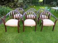 Six Parker Knoll chairs for re-upholstering or upcycling