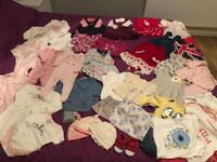 Bundle of baby girl clothes. 0-3m. Excellent condition