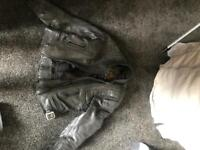 Belstaff women leather jacket and trousers