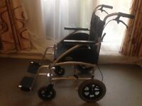DAYS Swift 46cm Ultra Lightweight Wheelchair Cost £329 New. Excellent Condition. Model SWIFT46TR