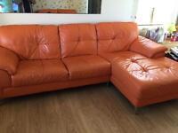 2 leather sofas