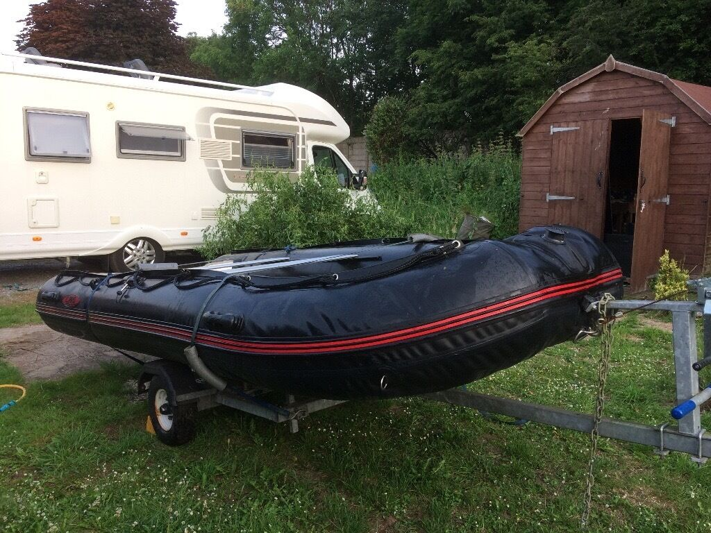 Inflatable Rib and Trailer