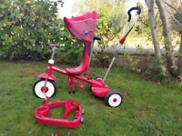 Radio flyer stand & ride red trike for 9 mth to 5 yrs
