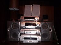 Technics stack hifi with six speakers