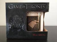 "Game of Thrones 11oz mug, ""Stark"" ""Winter is coming"", white mug, gift idea"