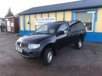 2010 - Mitsubishi L200 4LIFE Single Cab DIESEL Pick-UP - Black - 12 Months MOT - Mitchelin Tyres -