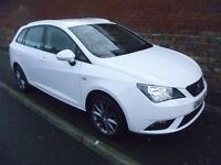 SEAT IBIZA I-TECH 2014 REG, ONLY 20,000 MILES, TOP SPEC WITH ALLOYS & HALF LEATHER & £30 A YEAR TAX