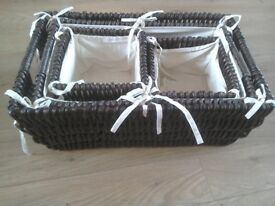 4 Matching Storage Baskets