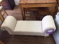 Chair and matching footstool