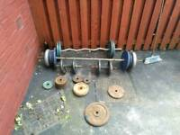 Cast iron weights 146kg