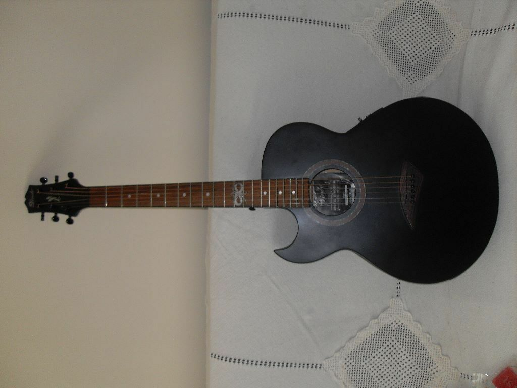 Lindo Left Handed Slim ORG Infinity Matte Black Electro Acoustic Guitar