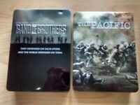 Band of Brothers and Pacific DVDs
