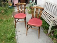 Pair of Prince of Wales Ercol Fleur De Lys Stickback Chairs