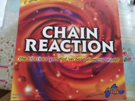Chain Reaction - never played. Cards still wrapped etc