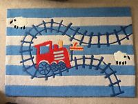 NEXT train blue and red bedroom Rug