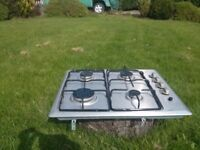 Gas hob, stainless steel