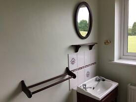 Free to good home! Compact Sink and Vanity Unit with matching Wall Mirror, Shelf and Towel Rail
