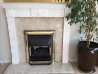 Gas fire & surround, excellent condition, hardly usd
