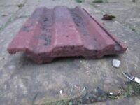 Concrete roof tiles , 15 x 9 inch, red