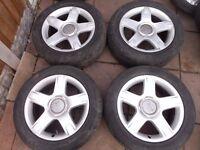 "AUDI A3, A4, A6 ALLROAD VW PASSAT, SHARAN, GOLF MK5, MK6, T4, 17"" ALLOY WHEELS"