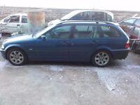 2000 BMW 320d E46 M47D20 Estate Touring Manual Topaz Blue BREAKING FOR PARTS SPARES