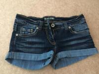 Denim shorts. Size 10.