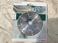 Bosch 2609256413 Diamond Concrete Cutting Grinder Disc Concrete/Granite 115mm