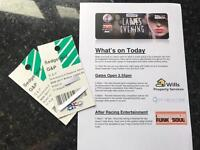 2 x Tickets Sedgefield Races - 31st August