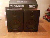 Pair M-Audio bx5 D2 70w studio monitor speakers bi-amplified