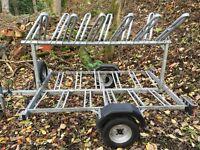 Cycle trailer Burtech carries 10/ 12 bikes