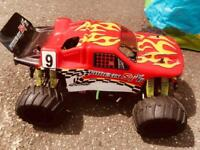 Radio controlled petrol car