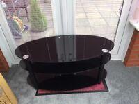 BARGAIN: lovely black TV stand