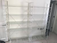 Ikea Metal & Glass Bookcase/ Bookshelves (Lindved) Excellent Cond