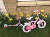 Child's bike and scooter for sale