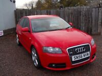 AUDI A3 S LINE 2006 56 2.0 LTR TDI TURBO DIESEL 1 YEAR FRESH MOT WARRANTIED CLEAN CAR!!!