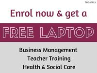 Funded courses / Business Management / Teacher Training / Health & Social Care