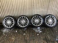 "Genuine 18"" Mercedes Benz A Class AMG Sport Alloy Wheels #2 - 5x112 - Will fit VW, Skoda, Seat"