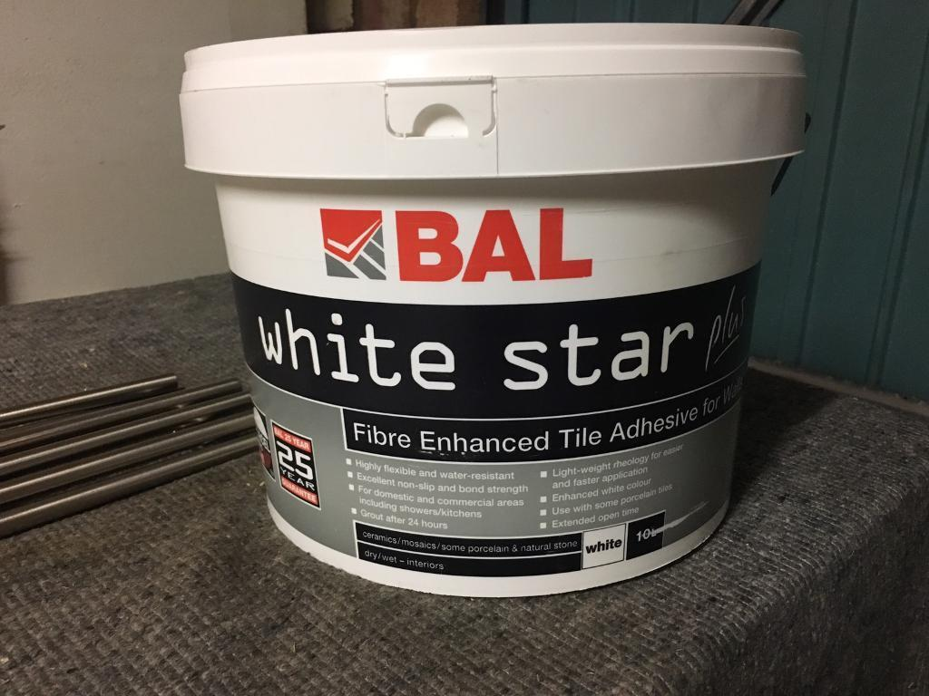 Bal white star wall tile adhesive 10l in ipswich suffolk gumtree bal white star wall tile adhesive 10l dailygadgetfo Choice Image