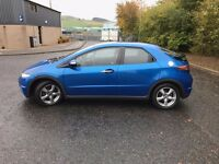 2007 HONDA CIVIC 1.8 SE I-VTEC BLUE STUNNING CAR 63,000 MILES THREE DOOR HATCHBACK £3995 OLDMELDRUM